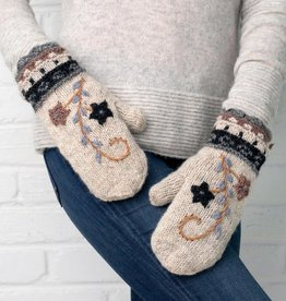 Rising Tide Floral Wool and Fleece Mitten