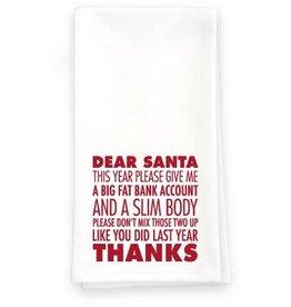 Paisley and Parsley Designs Holiday Towels - Dear Santa