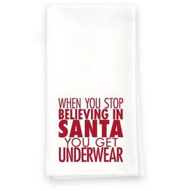 Paisley and Parsley Designs Holiday Towels -  Believe in Santa
