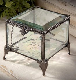 J Devlin Vintage Glass Jewelry Box