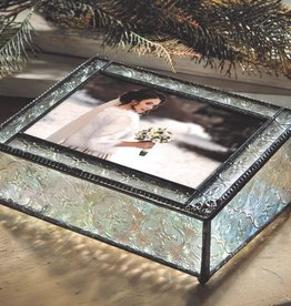 J Devlin Leaded Glass Photo Box with Filigree