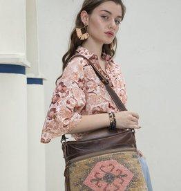 Myra Bag Pink Kilim Shoulder Bag