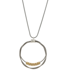 High Strung Studios Song Circle Ball  End Necklace
