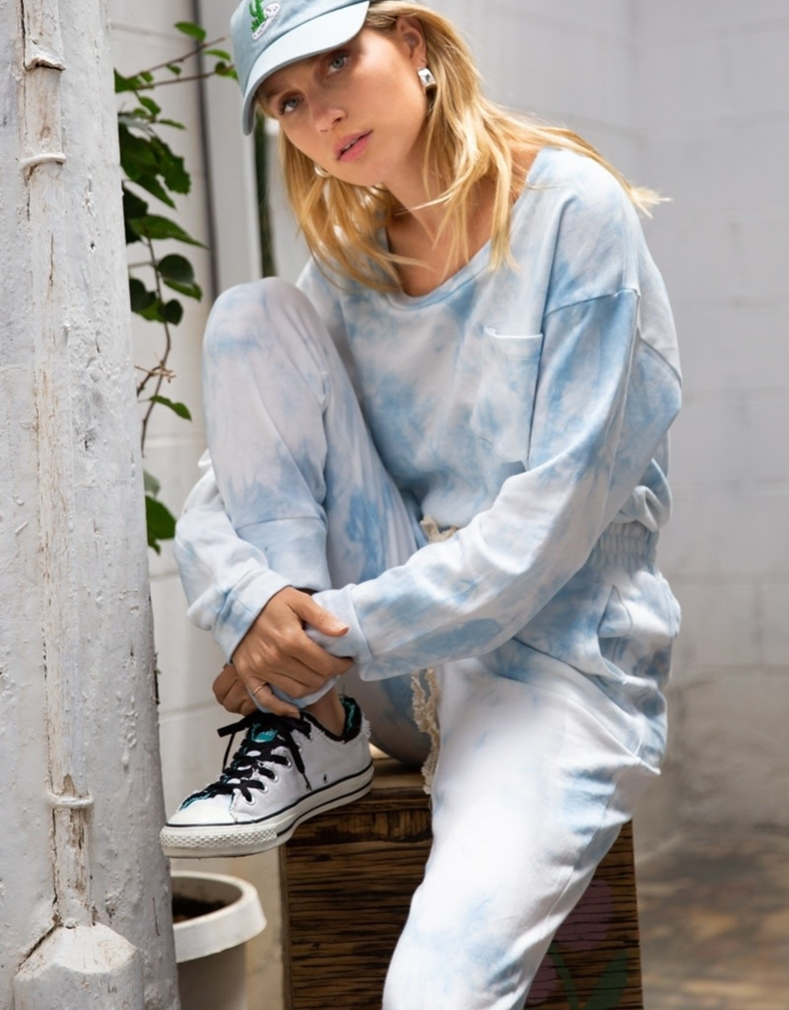 POL Clothing Tie Dye Pocket Sweatshirt
