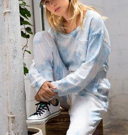 POL Clothing Tie Dye Pocket Sweatshirt