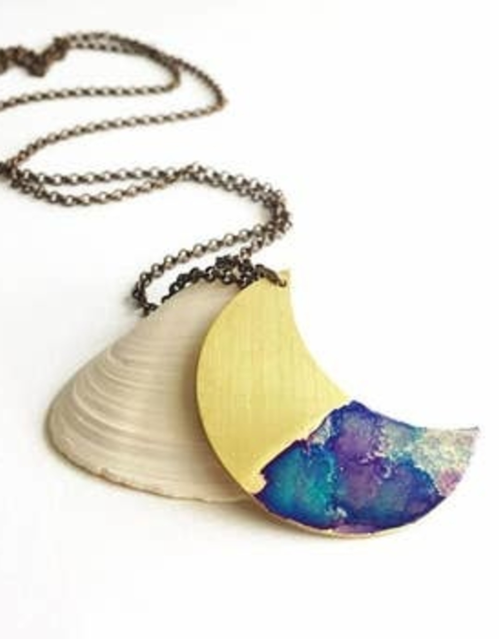 SSD Jewelry  Watercolor Crescent Moon Necklace
