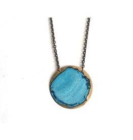 "SSD Jewelry Sky Brass Circle 2"" Necklace"