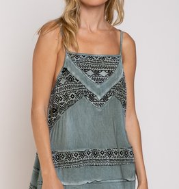 POL Clothing Aztec  Printed Tank