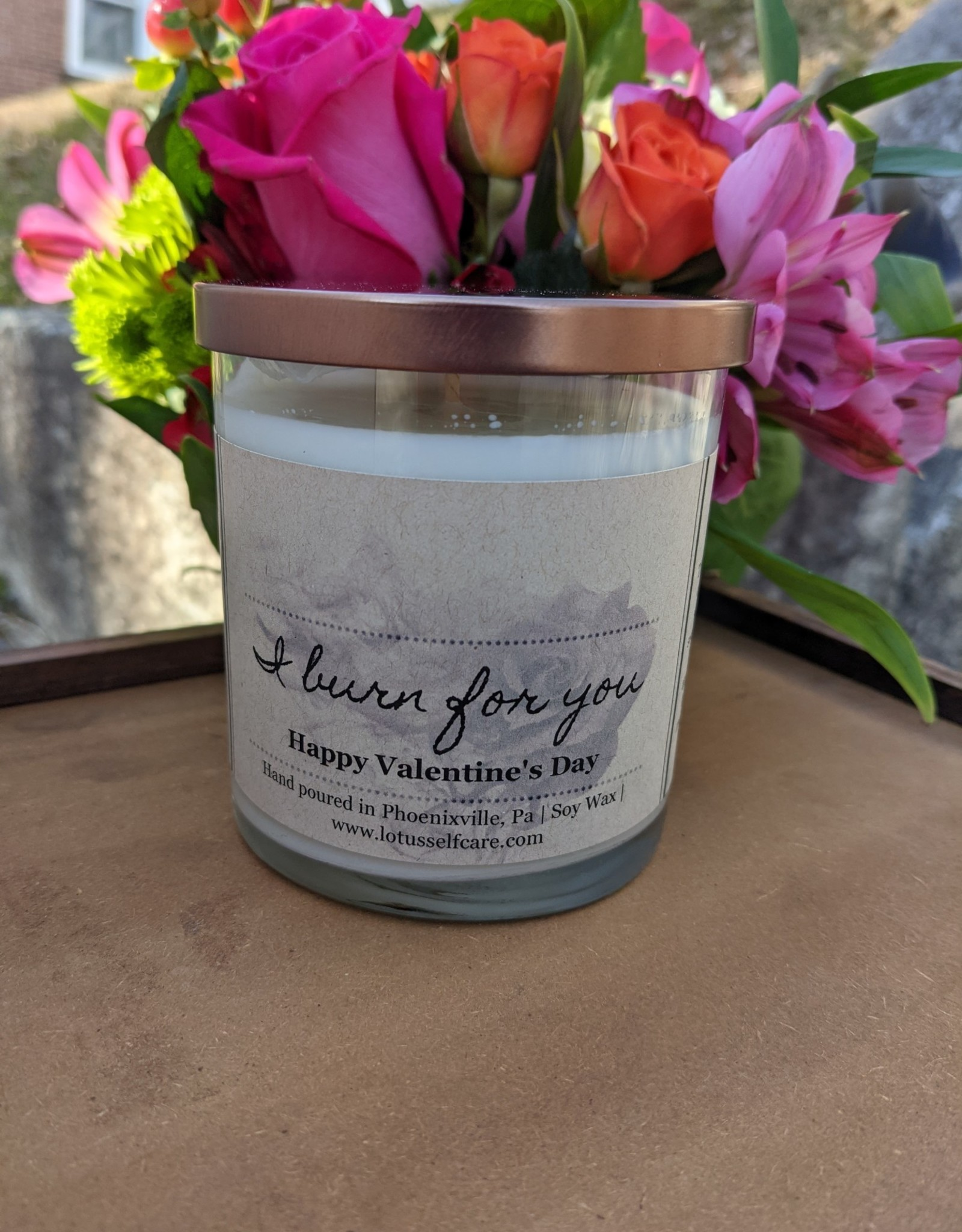 Lotus Self-Care Lotus Candle Valentines Scent - Love Spell
