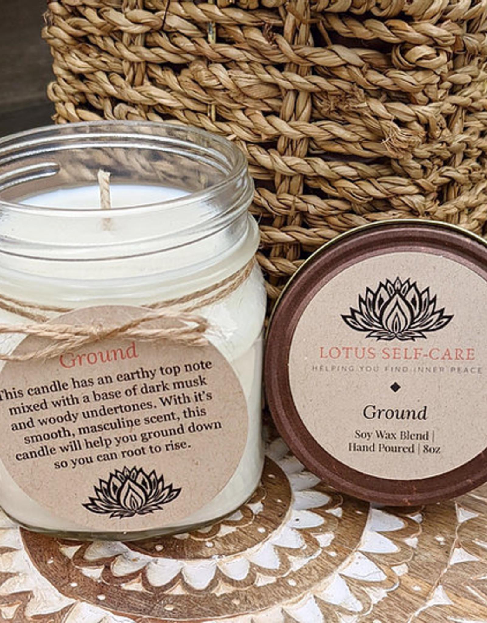 Lotus Self-Care Handmade Lotus Self-Care Medium Jar Candle