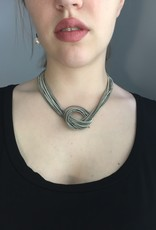Sea Lilly Piano Wire Large Knot Necklace