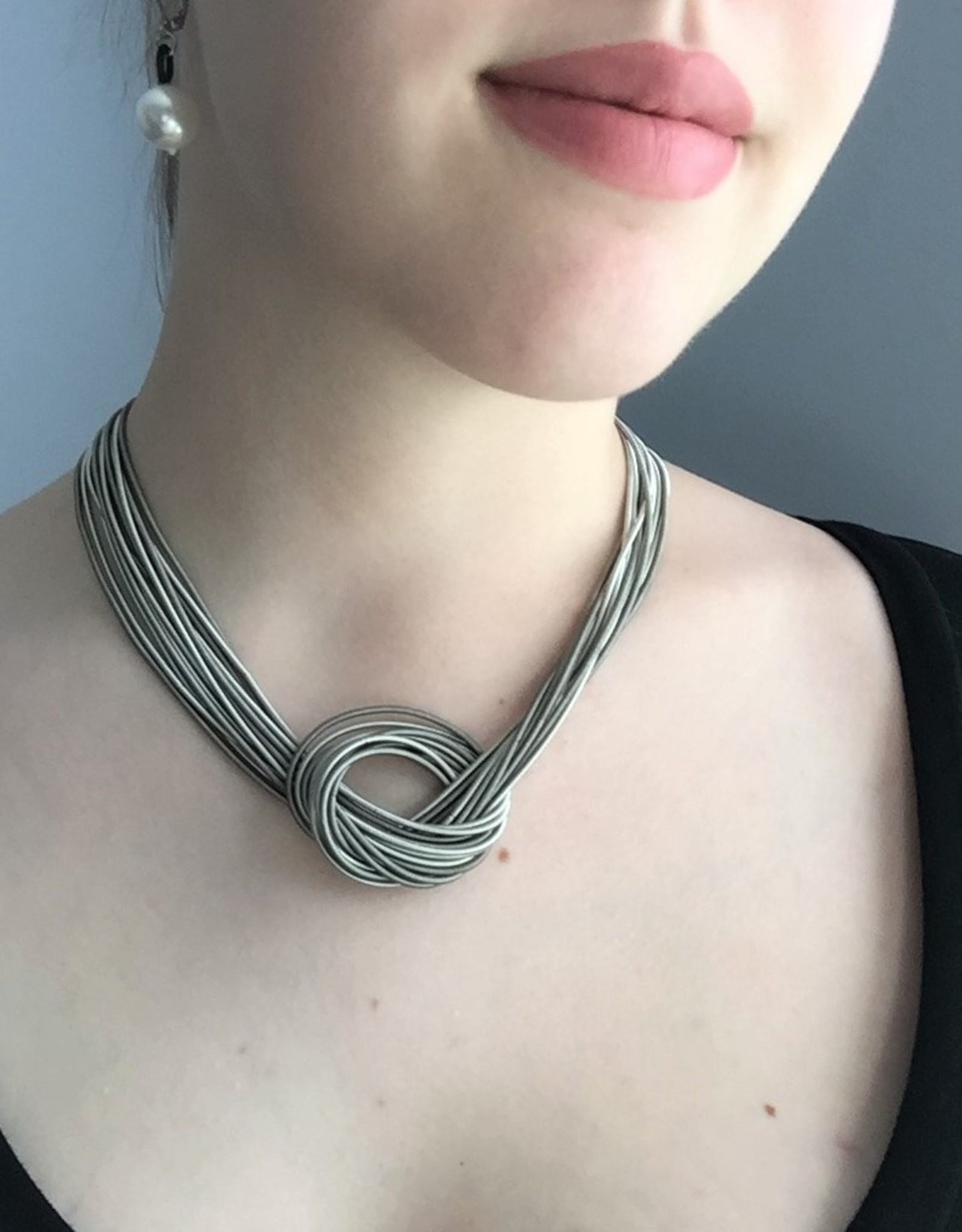 Sea Lily Piano Wire Large Knot Necklace