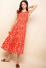 THML Smocked Midi Dress