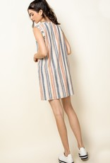 THML Striped Sleeveless Shirt Dress