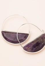 Scout Stone Prism Hoop Earring
