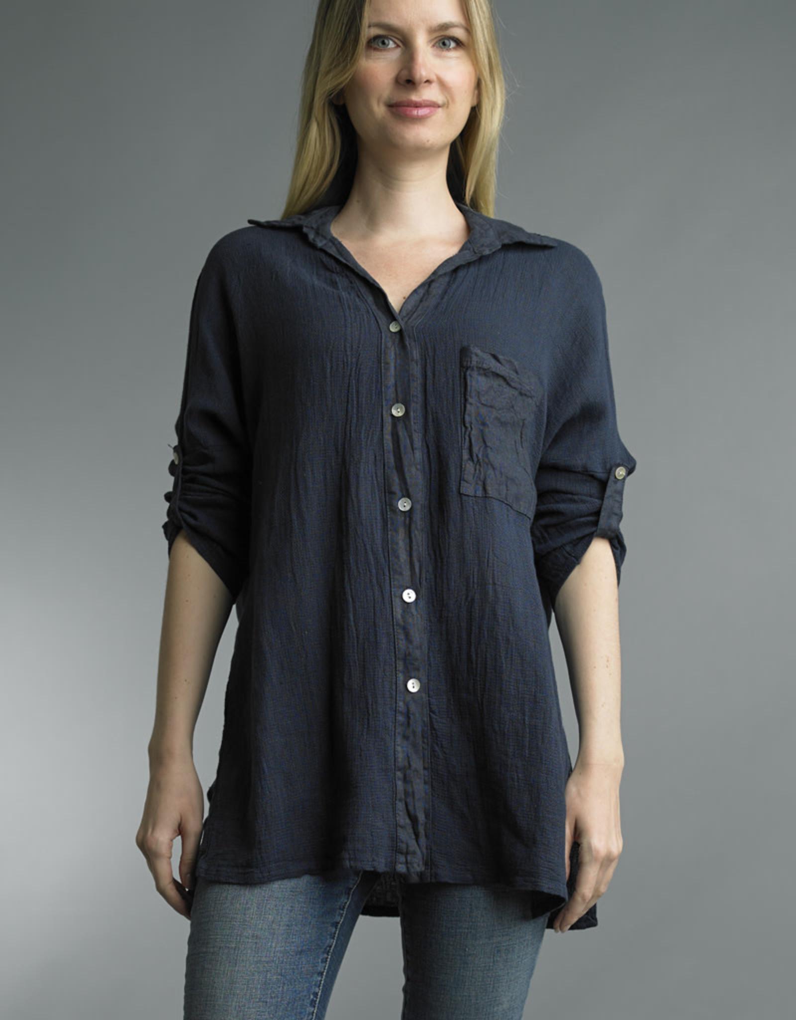 Tempo Paris Cotton Button Down Tunic