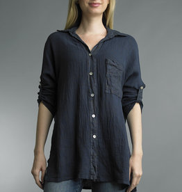 Tempo Paris Cotton Button Down Tunic