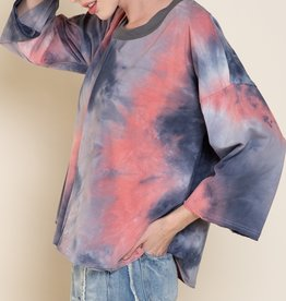 POL Clothing Indigo Dip Dye Shirt