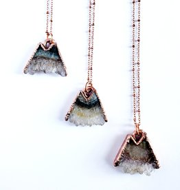 Merging Metals Amethyst Mountain Necklace