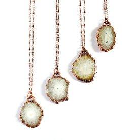 Merging Metals Pearly Solar Quartz Necklace
