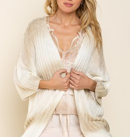 POL Clothing Striped Sweater Cardigan