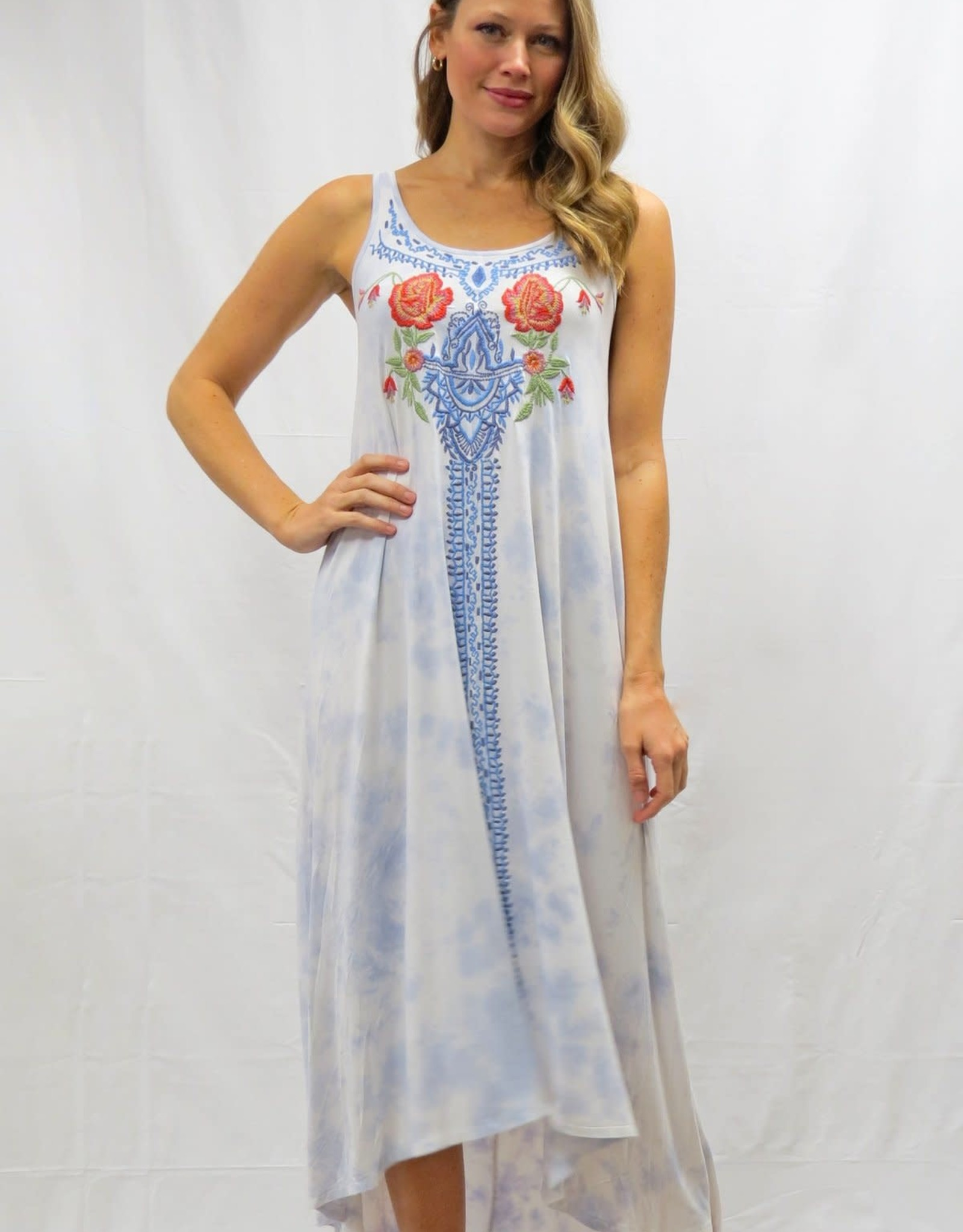 Caite Mollie Embroidered Tank Dress