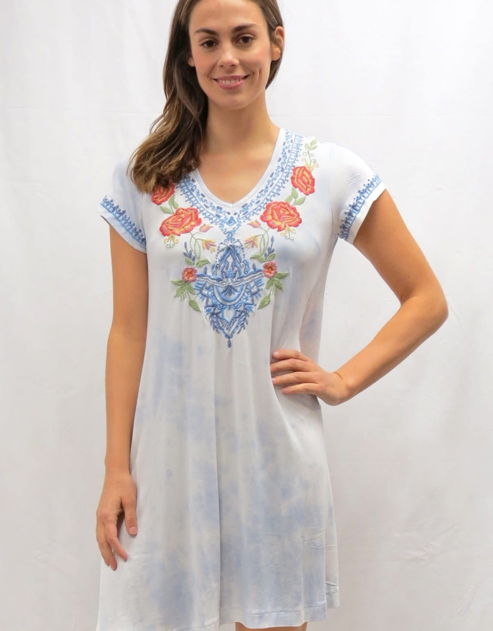 Caite Jalyn Tee Embroidered Dress