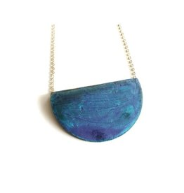 SSD Jewelry Sky Folded 1/2 Circle Necklace