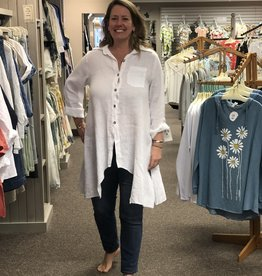 Saga Linen Button Tunic