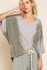 POL Clothing Soft Slouchy Tie Dye Top