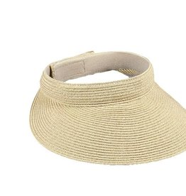 Paper Braid Straw Brim Visor
