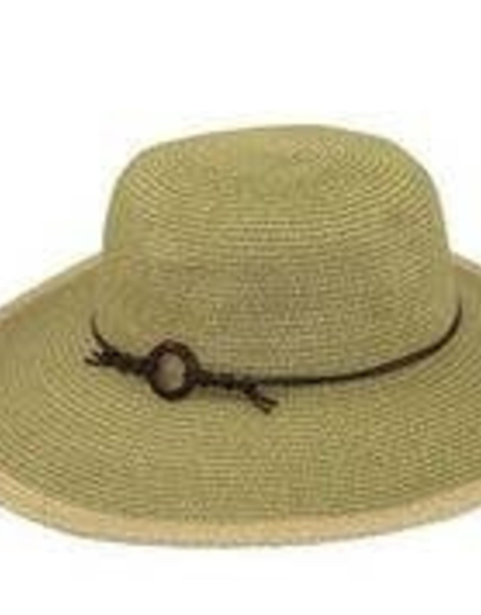 Paper Braid Flat Brim Hat