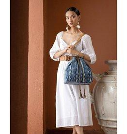 Myra Bag Indigo Rug Bucket Bag