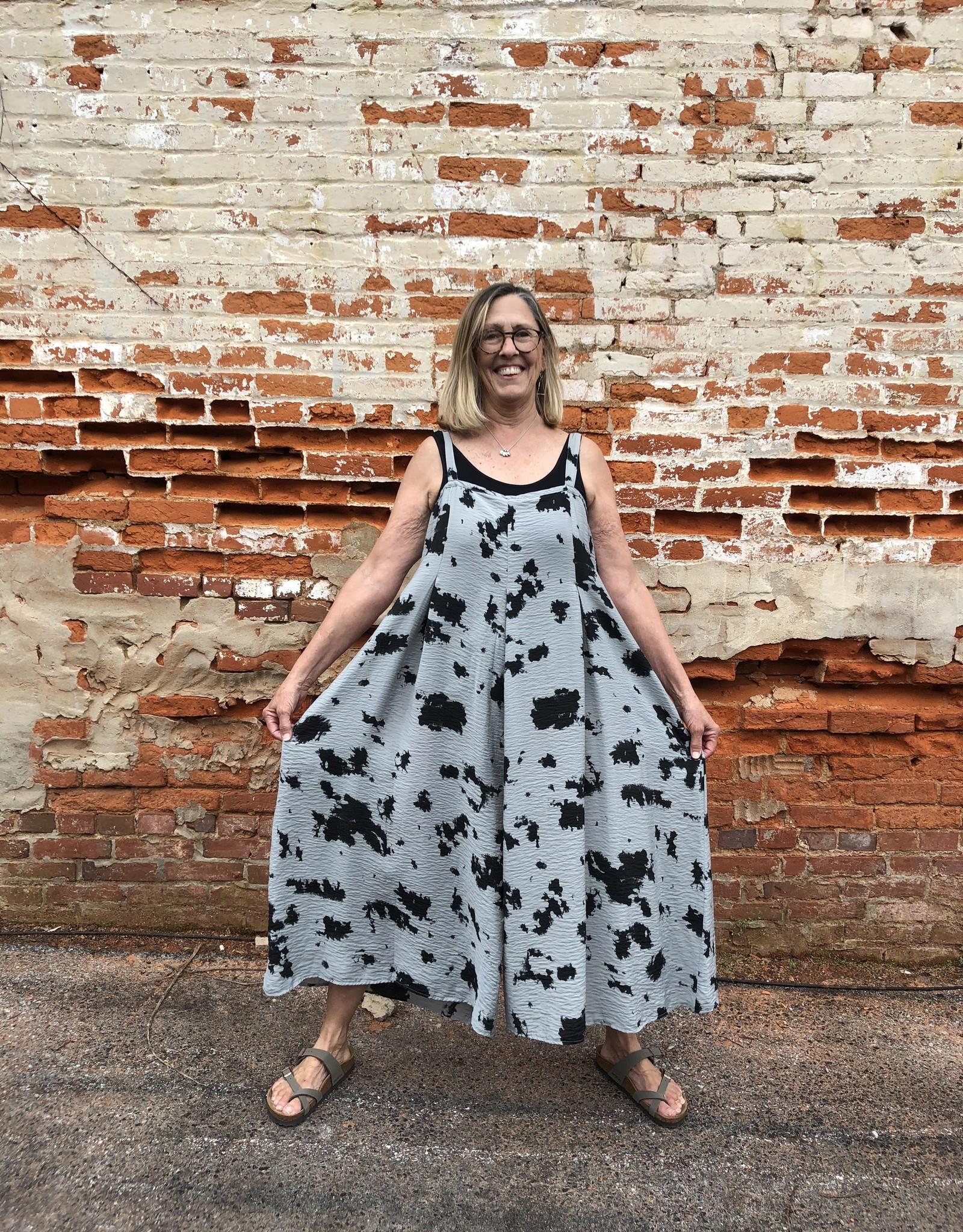Cut Loose  Inkblot Print Jumpsuit/Romper