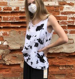 Cut Loose Inkblot Layered Tank