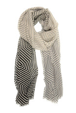 Joy Susan Accessories Ombre Twisted Geo Scarf