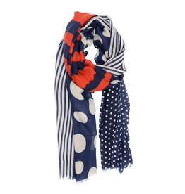 Joy Susan Accessories Dots and Stripes Scarf