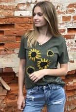 Marushka Relaxed V-Neck Tee Sunflower Field