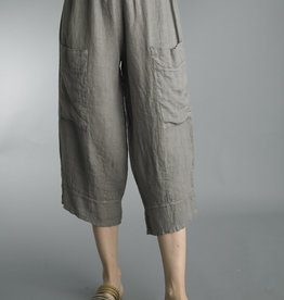 Tempo Paris Linen Cropped Pocket Pant