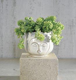 HomArt Pucker Up Ceramic Vase in Fancy White