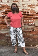 Kleen Idea, Inc Toile Linen Crop Pant