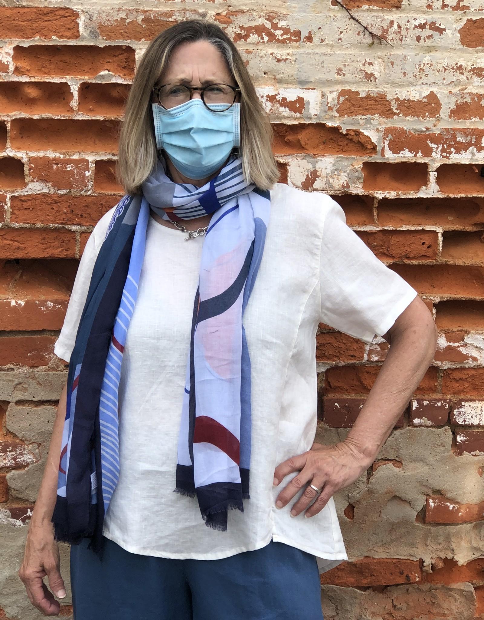 Kleen Idea, Inc Short Sleeve  Linen Slit Top