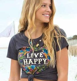 """Natural Life Perfect """"Live Happy"""" Tee"""