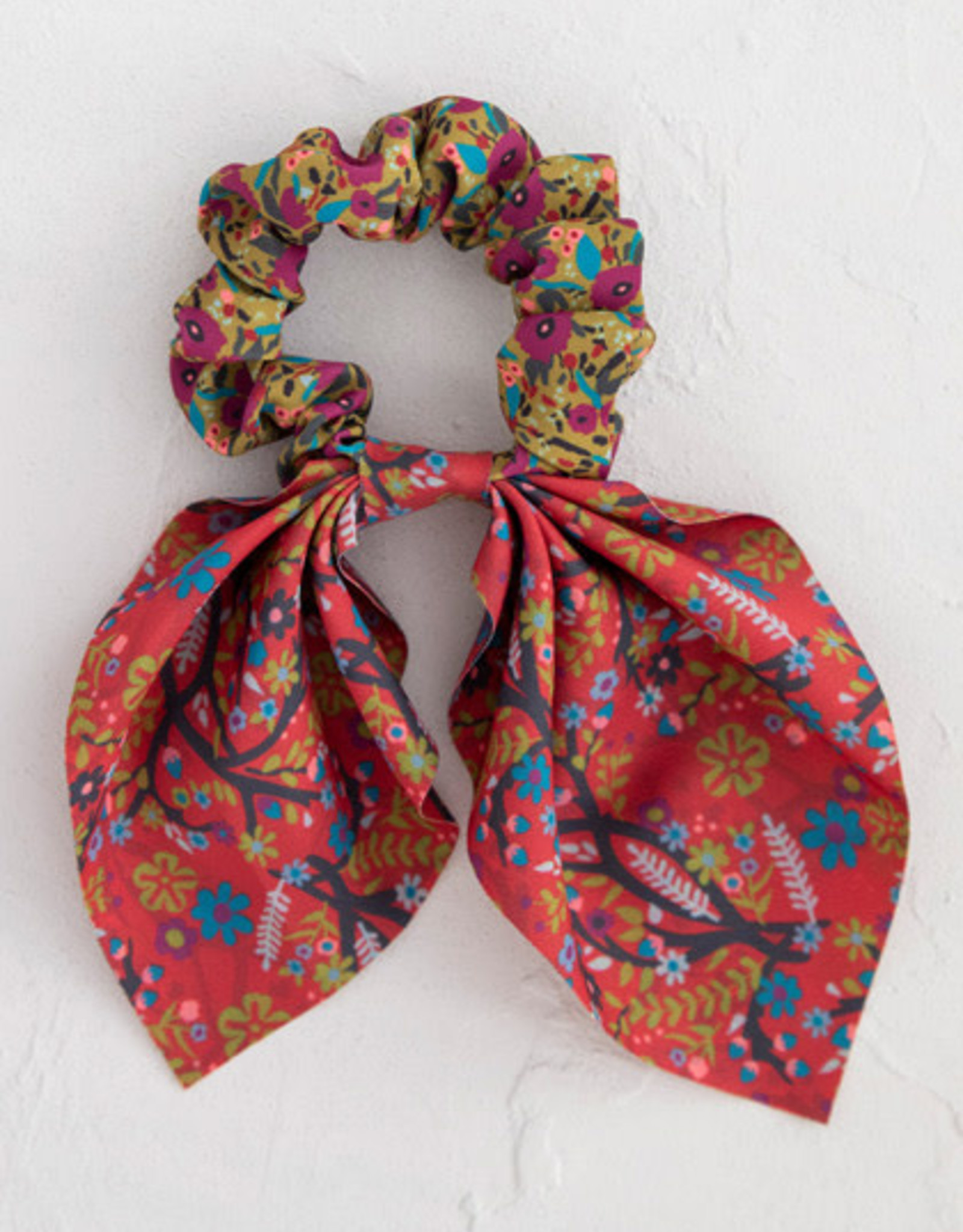 Natural Life Boho Scarf Printed Tie Scrunchie