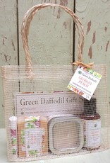 Green Daffodil Bath and Body Candle and Soap Gift Sets