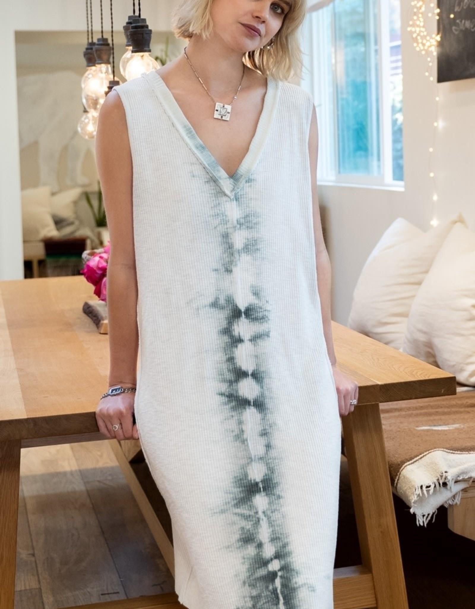 POL Clothing Tie Dye Knit Dress