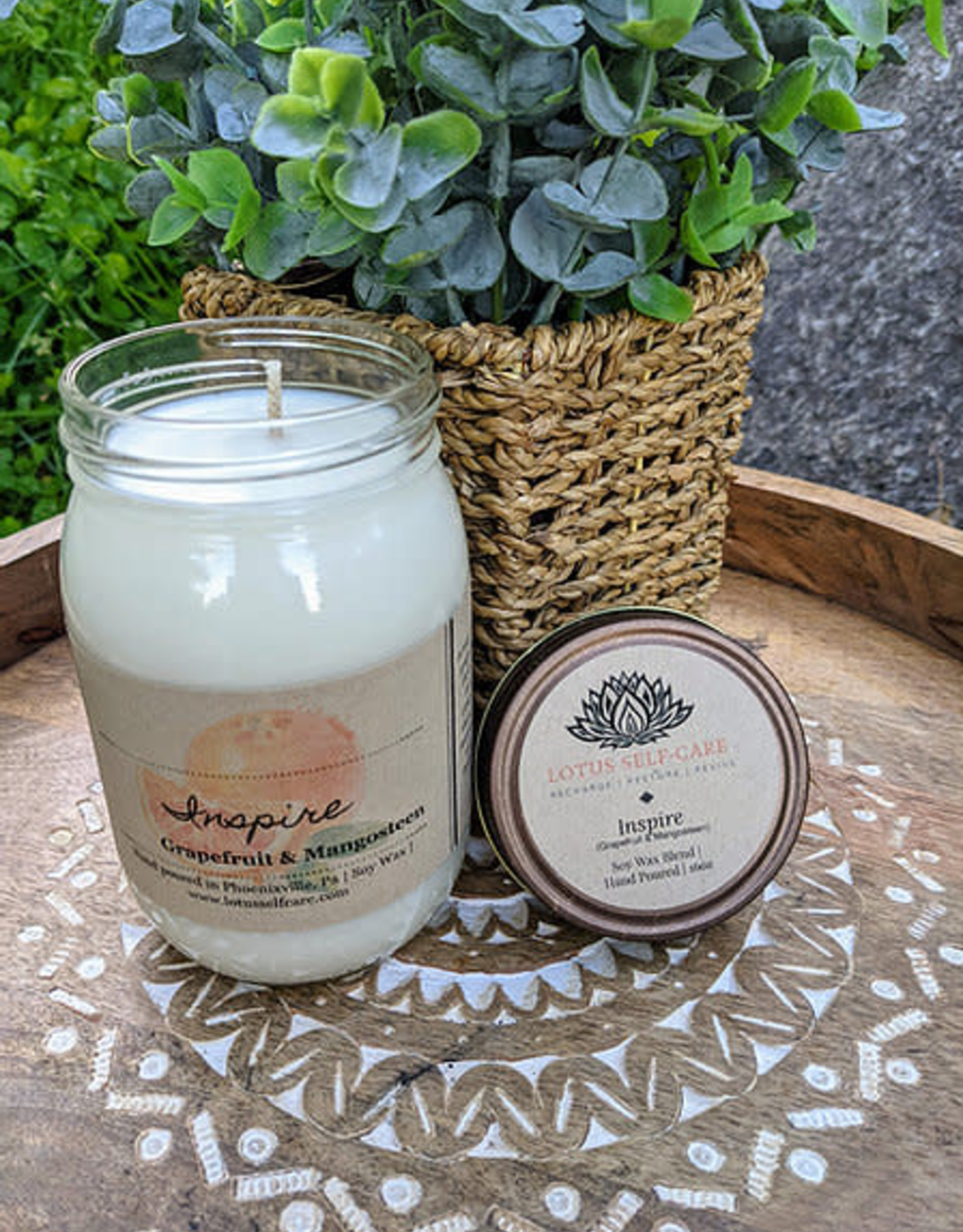 Lotus Self-Care Handmade Lotus Self-Care Large Jar Candle