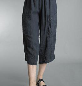 Tempo Paris Linen Cropped Pocket Pant