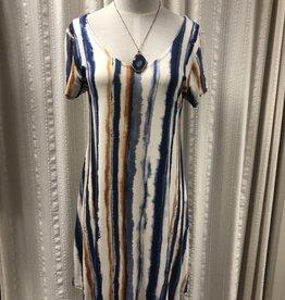 Salaam Striped Cap Sleeve Lucy Dress