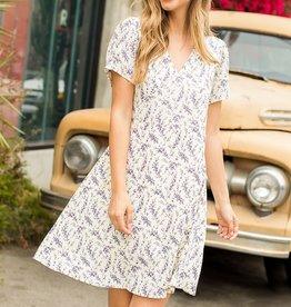 THML Purple Floral Print Dress